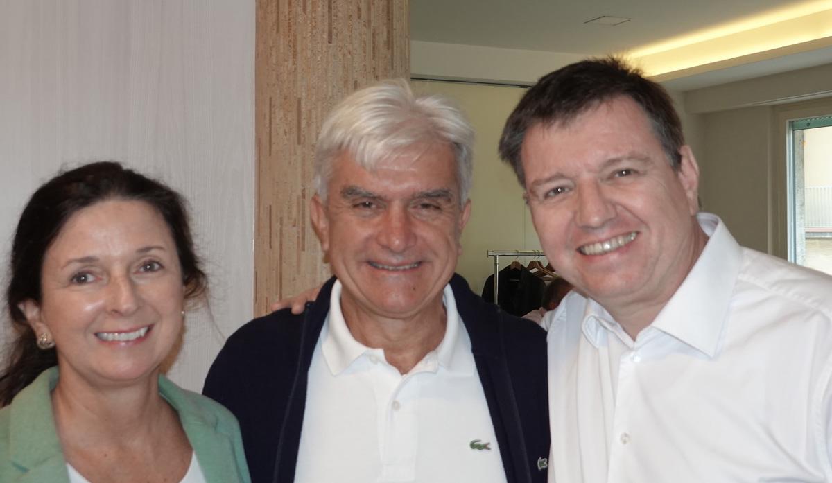 Dr. Peter Brandstaetter, Dr. Sabine Brandstääter mit Dr. Pier Paolo Cortellini in Florenz